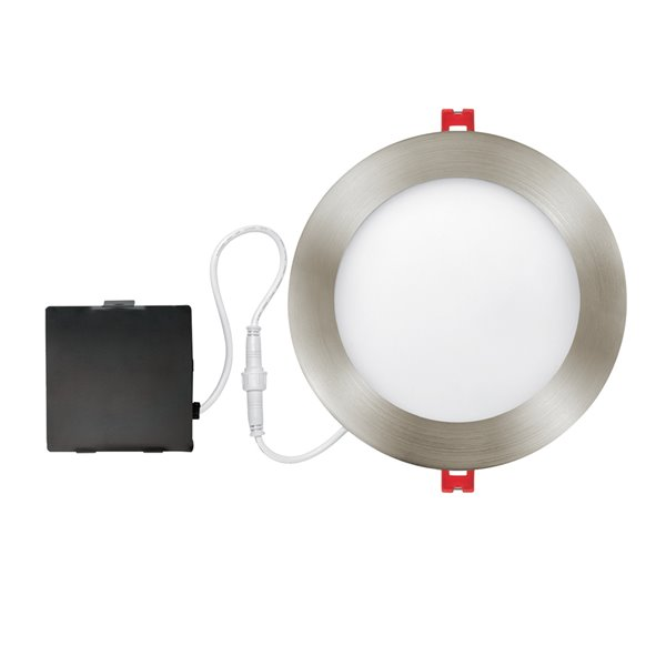Globe Electric Recessed Lighting Kit Ultra Slim Led Integrated 6 In Brushed Nickel 91107 Rona