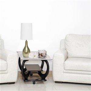Lampe de table en forme de larme Simple Designs, 19,5 po, bronze