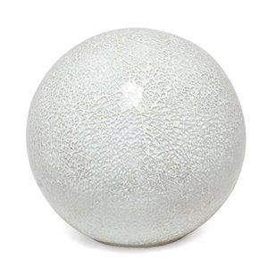 Lampe de table en forme de boule Simple Designs, 7,75 po, pierre blanche
