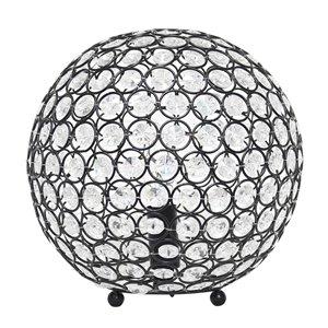 Lampe de table à paillettes en forme de boule de cristal Elegant Designs, 10 po, bronze