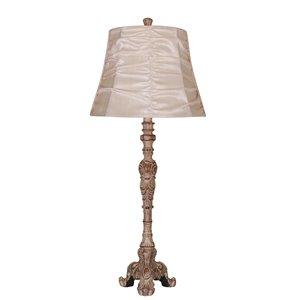 Lampe de table buffet de style antique avec abat-jour Elegant Designs, 31 po, crème