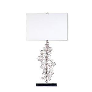 Lampe de table en cristal prismatique à paillettes Elegant Designs, 26,25 po, chrome