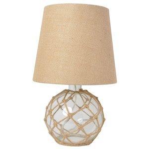 Lampe de table en verre Elegant Designs, 15,25 po, claire