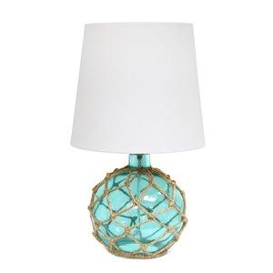 Lampe de table en verre Elegant Designs, 15,25 po, aqua