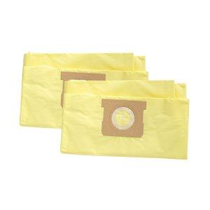 Sacs filtrants de rechange HE pour aspirateur à déchets secs/humides Filterpower, 10 à 15 gallons américains, paquet de 2