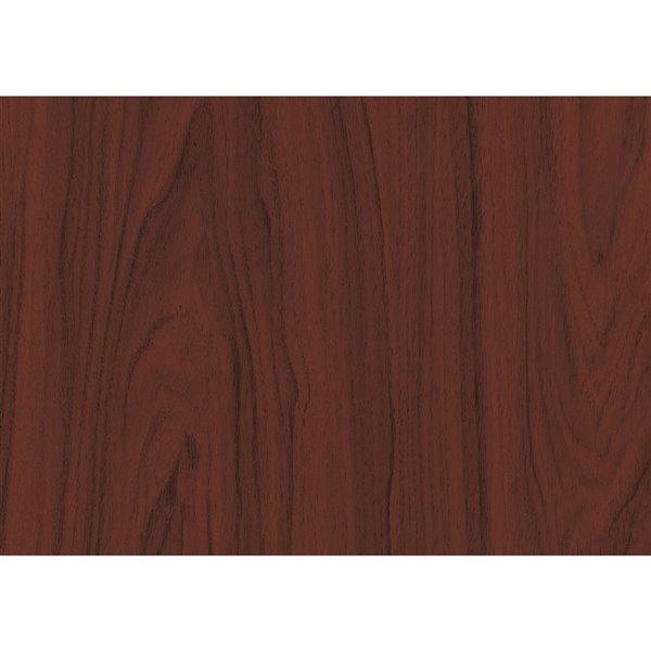Film autocollant décoratif Acajou de DC Fix, 26 po x 78 po, bois de cerisier