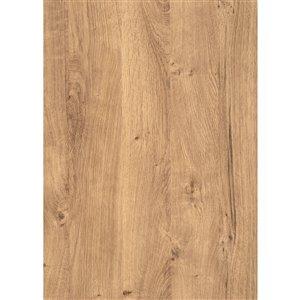 Film autocollant décoratif Chêne de Rebbick de DC Fix, 17 po x 78 po, bois brun foncé noueux, paquet de 2