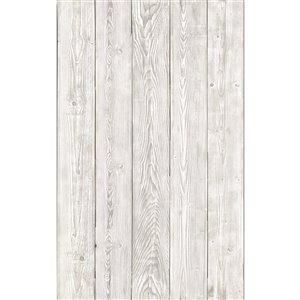 Film autocollant décoratif Bois usé de DC Fix, 17 po x 78 po, gris foncé, paquet de 2