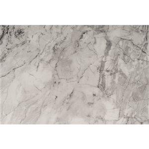 Film autocollant décoratif Roméo de DC Fix, 26 po x 78 po, marbre gris foncé