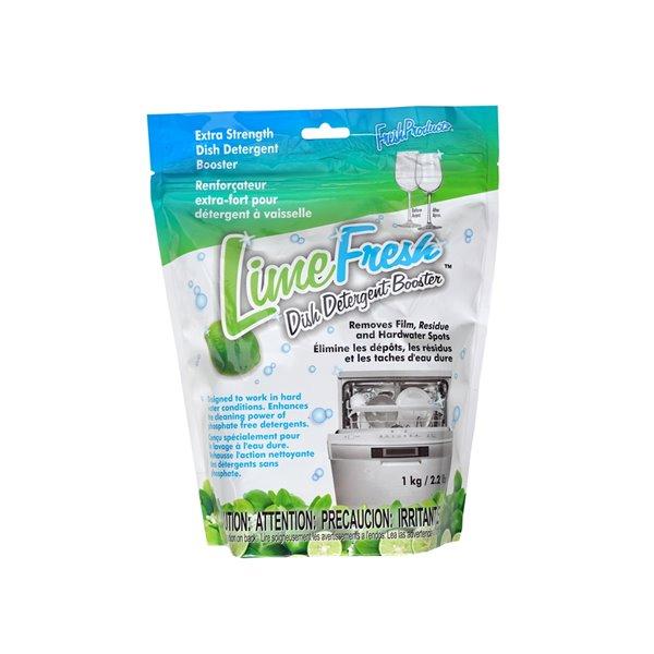 Renforçateur extra-fort pour détergent à lave-vaisselle Lime Fresh de Fresh Productz, 1 kg