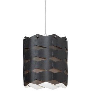 Dainolite Puzzle Pendant Light - 1-Light - Satin Black