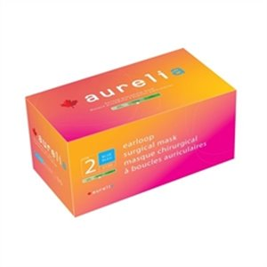 Masque chirurgical à boucles auriculaires 2120 d'Aurelia, ASTM 2, boite de 50