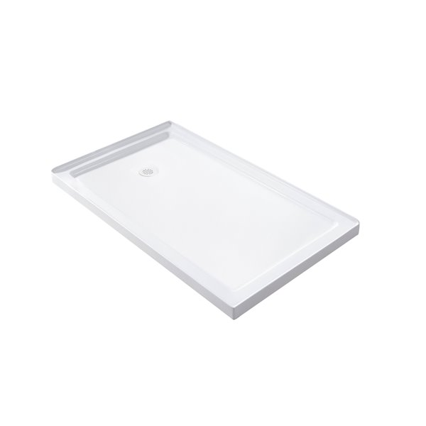 Turin Vertiges Shower Base - 60-in x 48-in - Right Drain