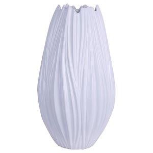 ArtMaison Canada Wave Ceramic Decorative Vase 15 x 8-in, White