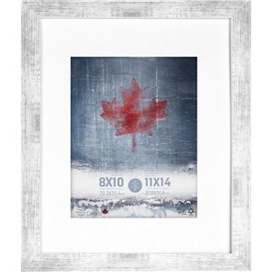 ArtMaison Canada White Washed Picture Frame - (Common Size: 11-in x 14-in  Actual Size 12-in x15)
