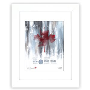 ArtMaison Canada White Picture Frame - (Common Size: 11-in x 14-in  Actual Size 12-in x15)
