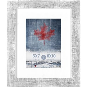 ArtMaison Canada White Washed Picture Frame - (Common Size: 8-in x 10-in  Actual Size 9-in x11)