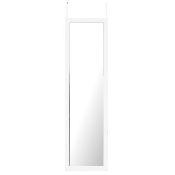 Mirrorize Canada 51-in L x 15-in W Rectangle White Framed Door Mirror