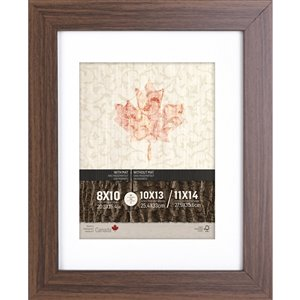 ArtMaison Canada Walnut Brown Picture Frame - (Common Size: 11-in x 14-in  Actual Size 12-in x15)