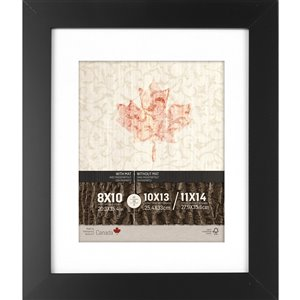ArtMaison Canada Black Picture Frame - (Common Size: 11-in x 14-in  Actual Size 12-in x15)