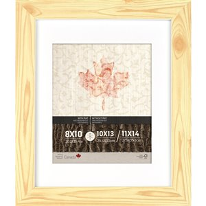 ArtMaison Canada Pine Finish Picture Frame - (Common Size: 11-in x 14-in  Actual Size 12-in x15)
