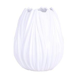 ArtMaison Canada Wave Ceramic Decorative Vase 10 x 7.5-in,  White