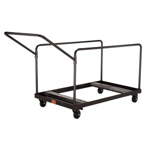 Round Folding Table Dolly - Brown - 660 lb Weight Capacity