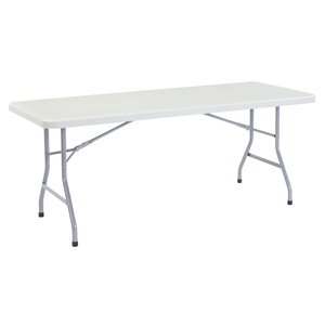 National Public Seating Heavy Duty Folding Table - 30-in x 72-in - Speckled Gray