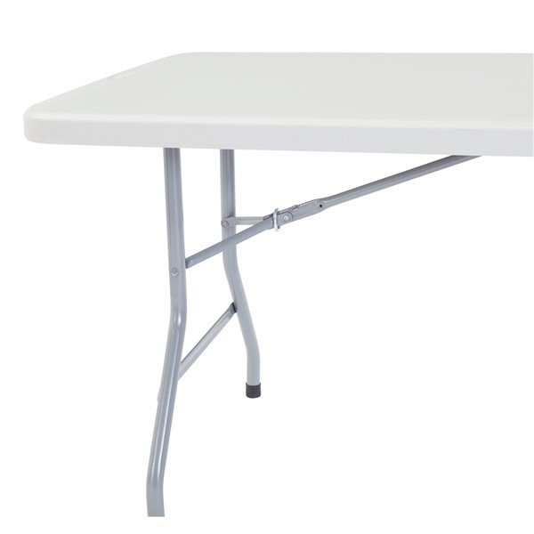 National Public Seating Heavy Duty Folding Table - 30-in x 60-in - Speckled Gray
