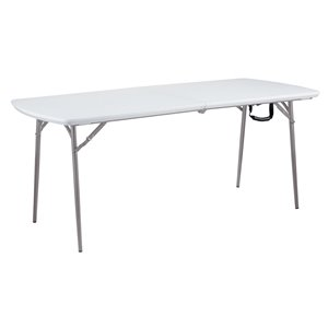 National Public Seating Heavy Duty Fold-in-Half Table - 30-in x 72-in - Speckled Grey