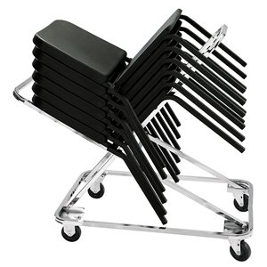 Chair Storage Dolly - Chrome - 332 lb Weight Capacity