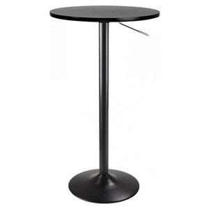 Table haute pour salle à manger avec extension de Nicer Interior, 28 po x 28 po, noir