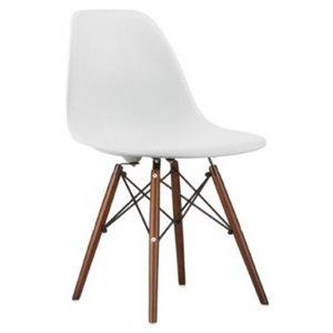 Chaise pour salle à manger Eiffel de Nicer Interior, blanc/bois brun, ens. de 4