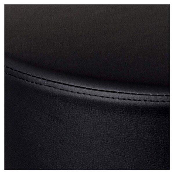 Tabouret roulant Caressoft de Nicer Interior avec hauteur ajustable, noir