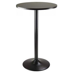 Table de salle à manger ronde Obsidian de Nicer Interior, 28 po x 28 po, noir