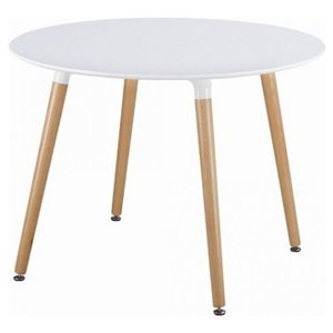 Nicer Interior Eames Round Dining Table - 32-in x 32-in - Natural/White