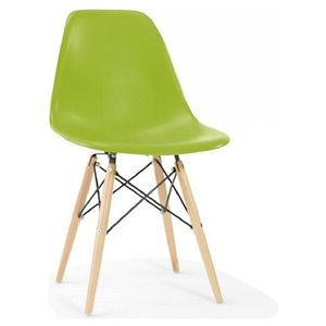 Chaise pour salle à manger Eiffel de Nicer Interior, vert/bois naturel, ens. de 6