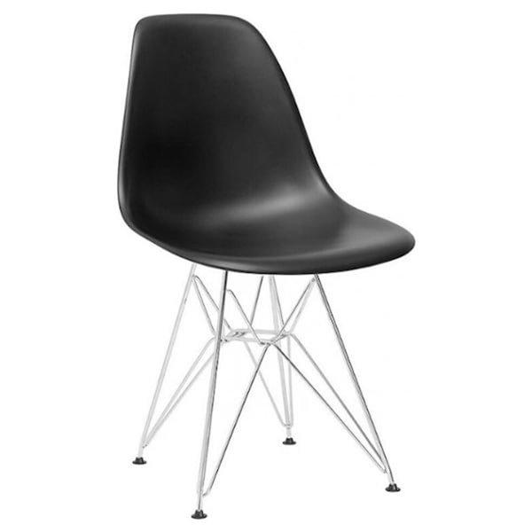 Chaise pour salle à manger Eiffel de Nicer Interior, noir/métal, ens. de 4