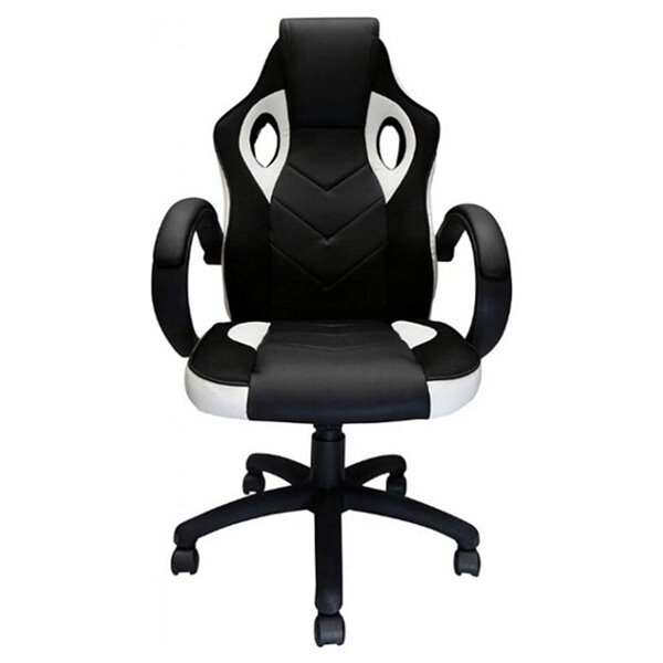 Nicer Interior Reclining Gaming Chair - Black and White