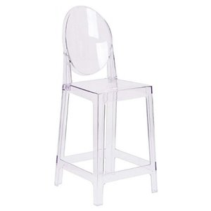 Nicer Interior Mid-Century Modern Counter Stool - Clear - Set of 4