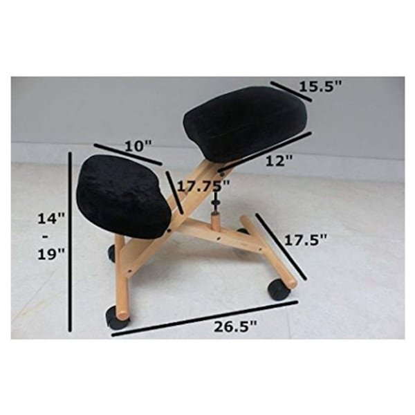 Chaise de dessinateur en mousse mémoire par Nicer Interior, cadre en bois naturel, noir
