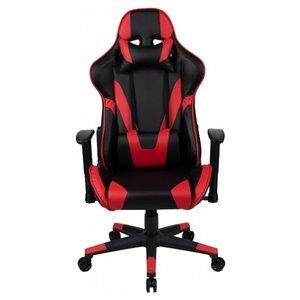 Fauteuil de jeux ergonomique par Nicer Interior, noir et rouge