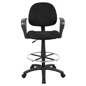 Chaise à roulettes par Nicer Interior, tissu noir