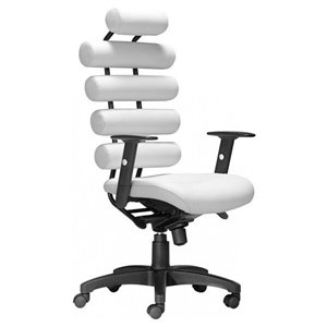 Nicer Interior Modern Executive Chair - White Faux Leather