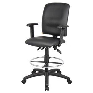 Chaise à roulettes par Nicer Interior, ergonomique et multifonction, accoudoirs ajustables, noir
