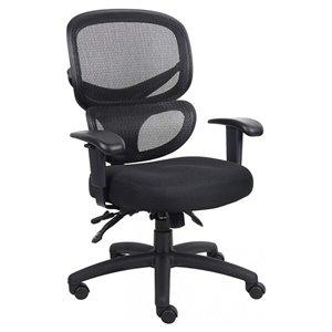 Chaise de bureau multifonction ergonomique par Nicer Interior, hauteur ajustable, noir