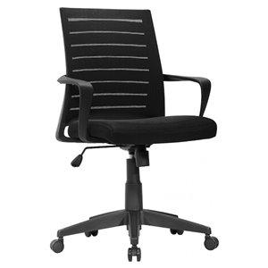 Chaise de bureau ergonomique de Nicer Interior, hauteur ajustable, noir