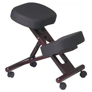 Chaise de dessinateur en mousse mémoire par Nicer Interior, noir/brun cerise