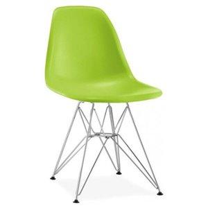 Chaise pour salle à manger Eiffel de Nicer Interior, vert/métal, ens. de 2