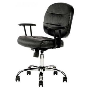 Chaise de bureau ergonomique de Nicer Interior, noir